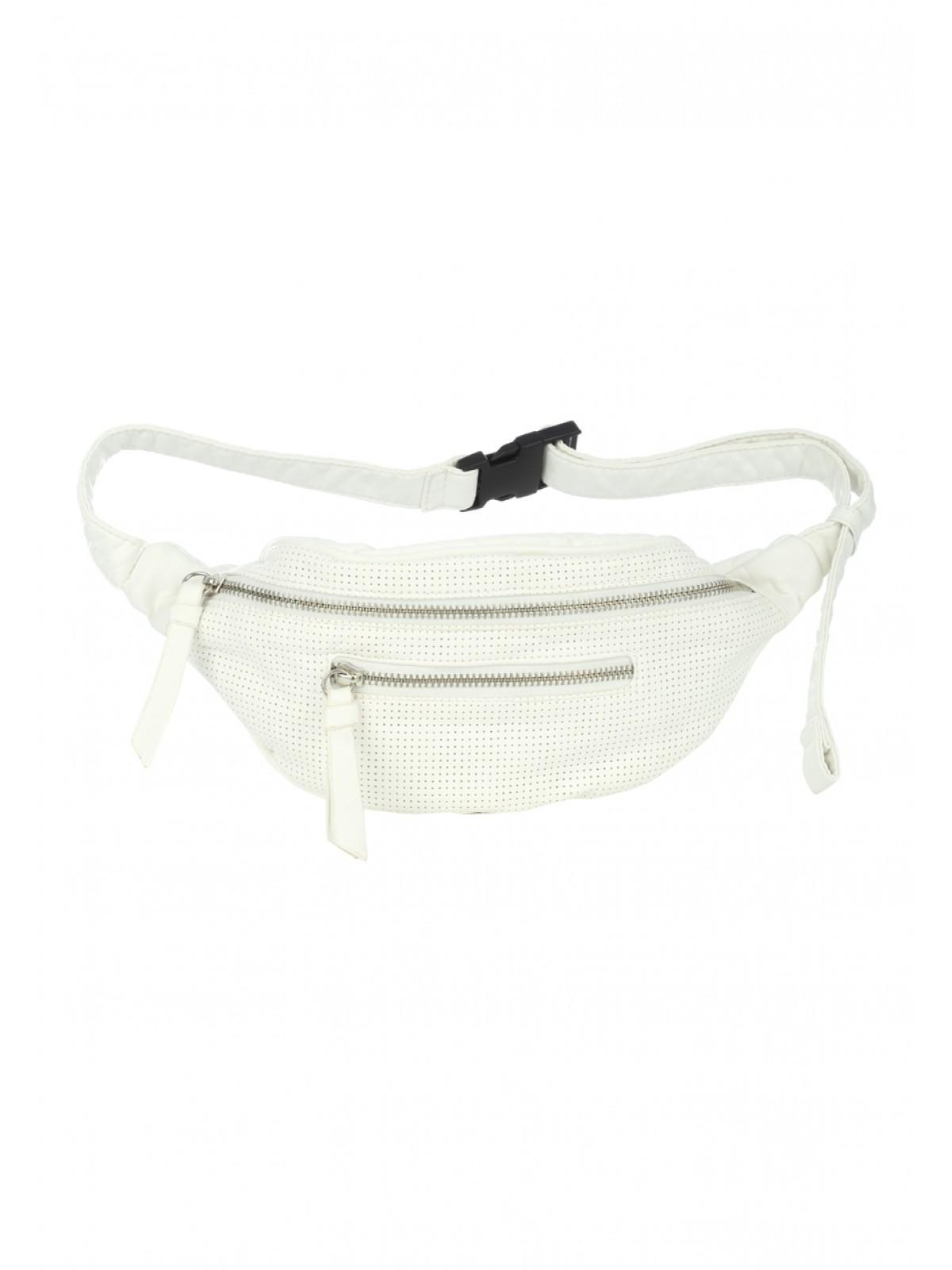 white bum bag
